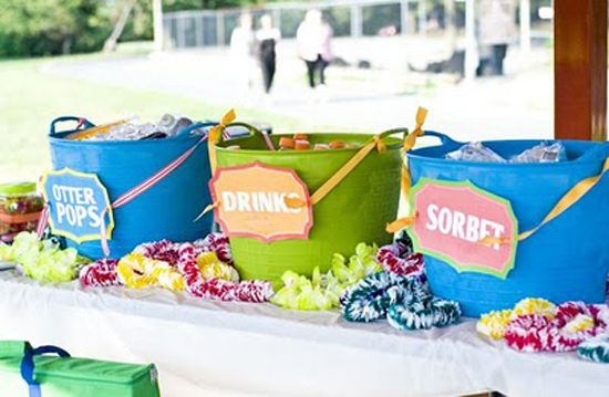 Love the labeled buckets -- could use for non-liquid stuff as well (candy, cookies, chips, etc.)