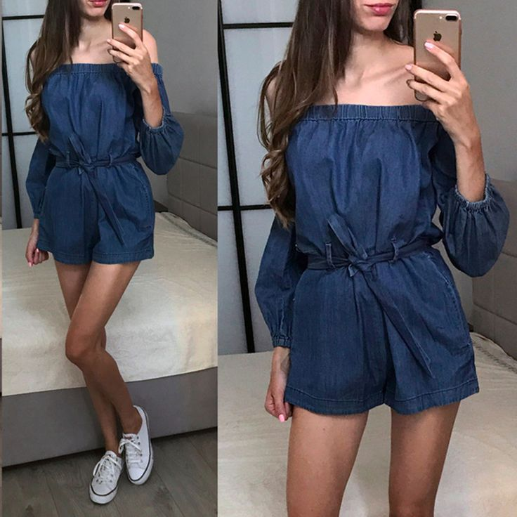 US $25.37 -- Nerlerolian 2017 синие джинсы женские комбинезоны Slash Средства ухода за кожей шеи с длинным рукавом Пояса с открытыми плечами женские комбинезоны Песочники купить на AliExpress