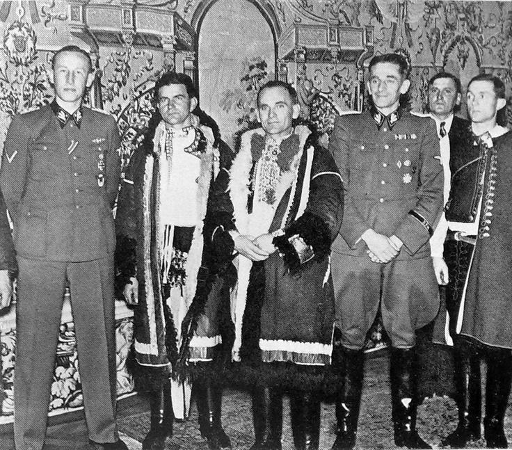 December 1941. Deputy Protector Reinhard Heydrich receives