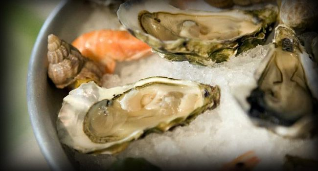 Oysters at 34* South - Knysna