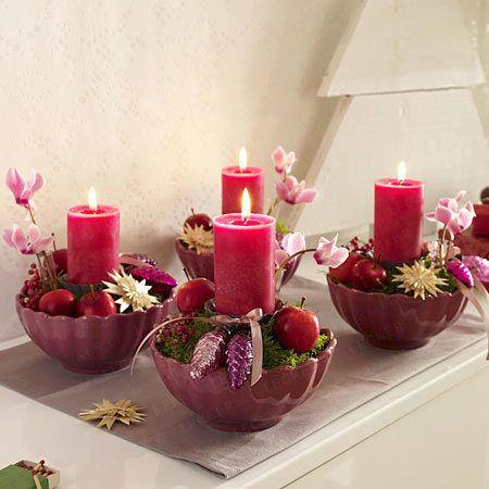 Adventskranz basteln - stimmungsvolle Ideen zum Selbermachen - adventskranz-gesteck  Rezept