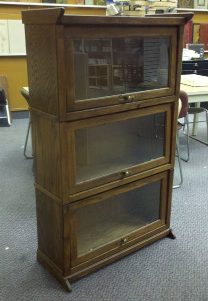 before picture of a barrister bookcase