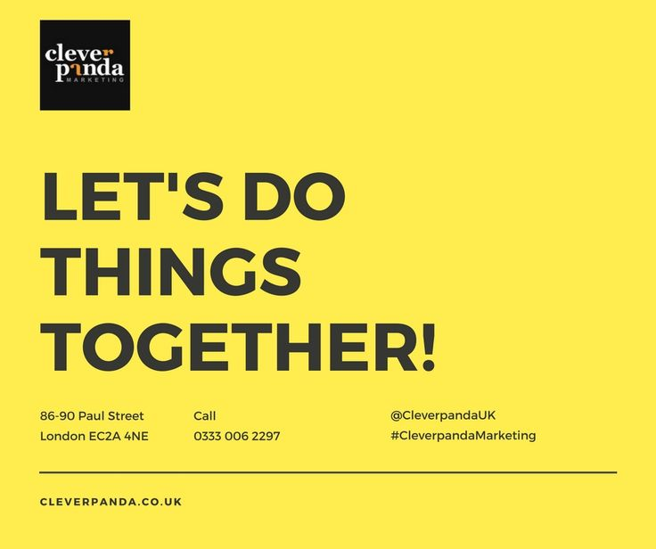 Let's Do Things Together! Call us if you would like to get started growing your business or to be matched with a Marketing Consultant! 0333 006 2297