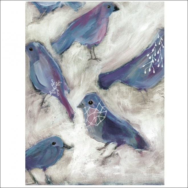 the morning orchestra by tiel seivl-keevers: Paintings Birds, Birds Art, Art Paintings, Beautiful Paintings, Art Peintur, Tiel Seivl Keev, Tiel Seivlkeev, Blue Birds, Mornings Orchestra