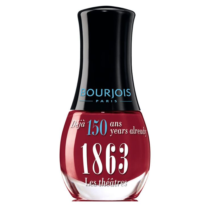 Bourjois 150 Jaar Mini Nailpolish 1863 Les Theatres -http://www.transfashions.com/en/beauty-health/makeup/nail-polish/bourjois/bourjois-150-jaar-mini-nagellak-1863-les-theatres.html The formula of Bourjois 150 Jaar Mini #Nailpolish 1863 Les Theatres, with double the vinyl and a complex reflection resins, provides an even more intense shine.   ...