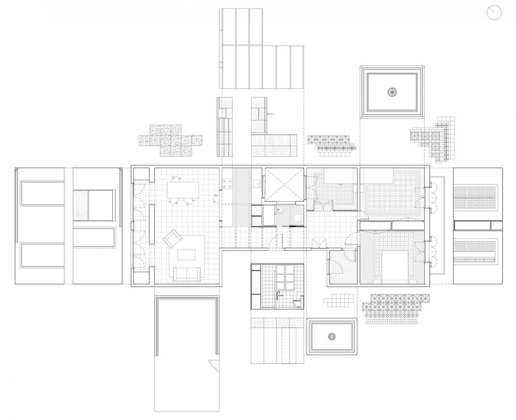 Carles Enrich | Arquitectura + Urbanisme. Drawings. Renovation of an apartment in Barcelona
