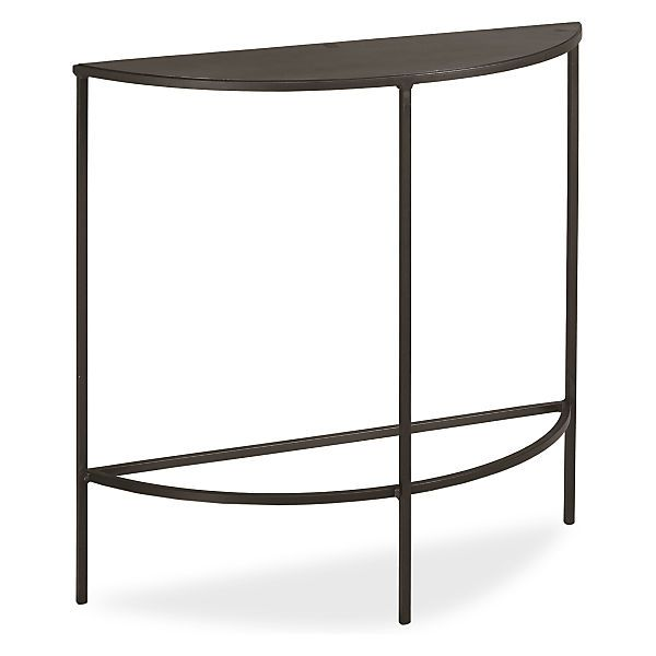 slim console tables in natural steel - Skinny Console Table