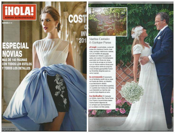 La #boda de Marina Castaño y Enrique Puras en el especial moda de alta costura de @Revista ¡HOLA! con vestido de novia #innovias