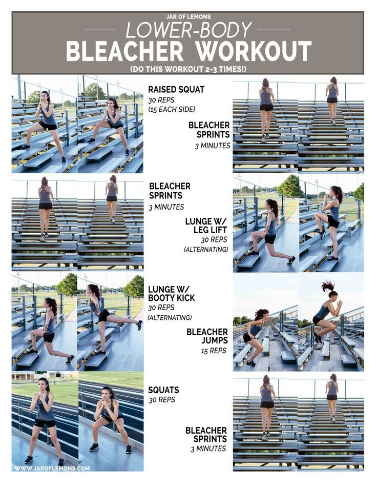 Lower-Body Bleacher Workout                                                                                                                                                                                 More