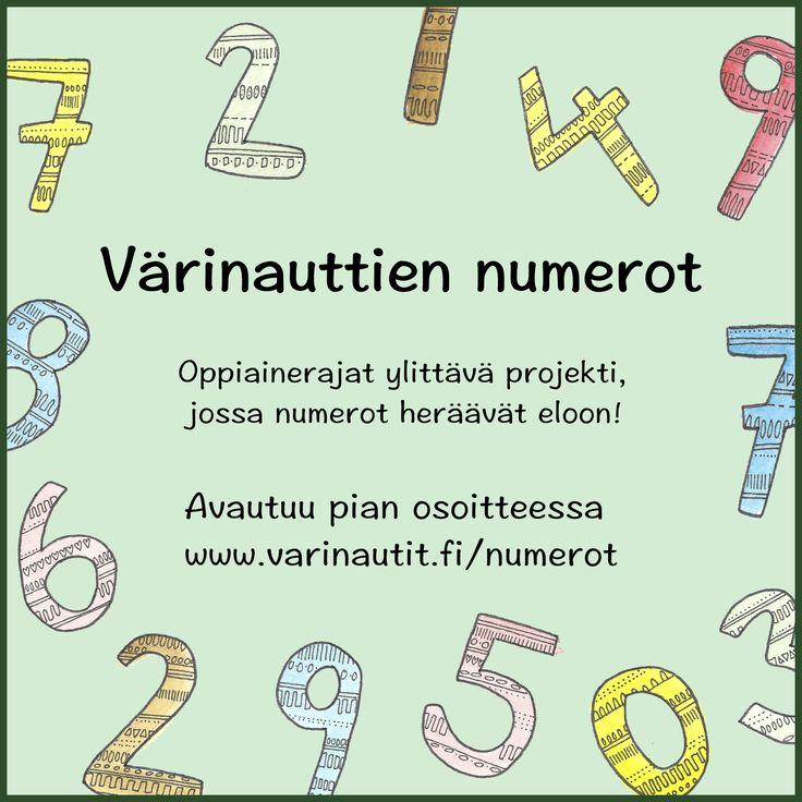 Värinauttien numerot, oppiainerajat ylittäviä tehtäviä matikkaan