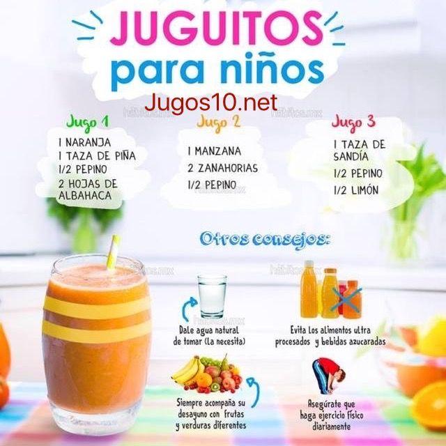 jugos nutritivos para niños en el desayuno en https://jugos10.net