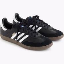 J Crew Men's Adidas Samba Sneakers Shoes 9.5 Nwob E8521 Black Gum