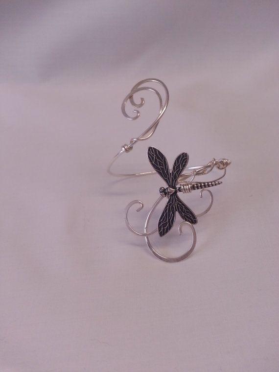 Silber Libelle ARM Manschette Wrap Elfen Feen von ElvenstarDesign