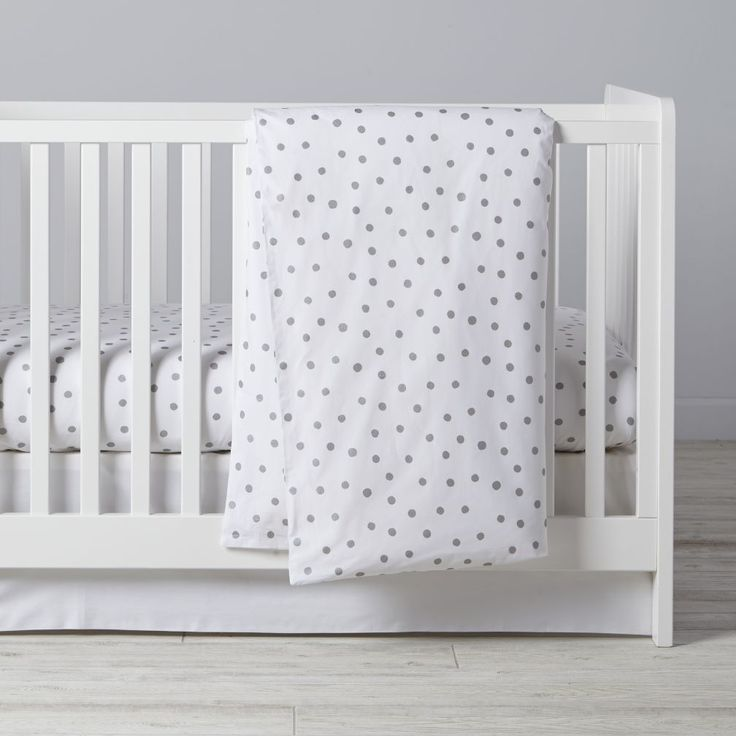 Shop Silver Dot Crib Bedding.  While the value of silver may go up and down, it's nice to know that the value of silver dots will always hold steady.