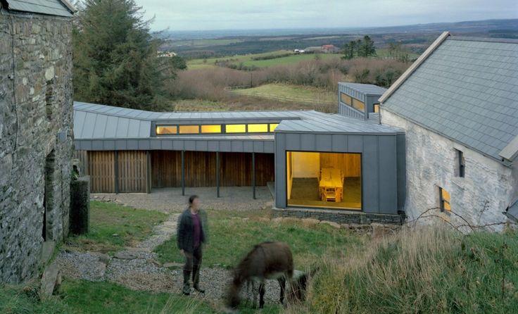 New nestled among the old in rural Ireland - sheet metal cladding, large window seats | Faha Farmhouse | Jamie Fobert Architects