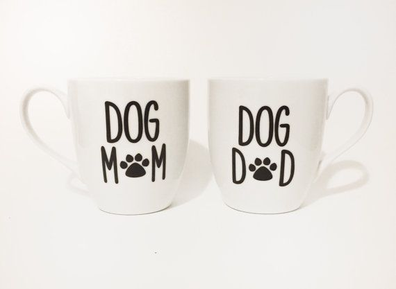 ☼❃ Dog #Mom, Dog Dad #Mug Set by #MommysCoffee http://etsy.me/2fErAPK