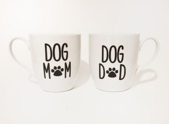 ☼❃ Dog #Mom, Dog Dad #Mug Set by #MommysCoffee http://etsy.me/2fErAPK