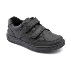 Atom, Black Leather Boys Riptape School Shoes http://www.startriteshoes.com/school-shoes/