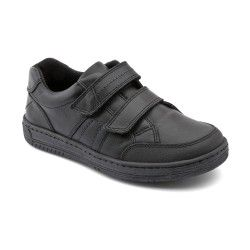 Atom, Black Leather Boys Riptape School Shoes http://www.startriteshoes.com/school-shoes/