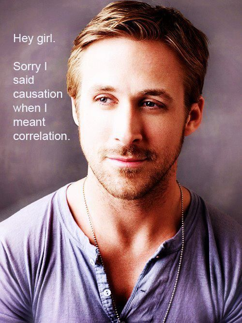 """Hey girl, Sorry I said causation when I meant correlation."""