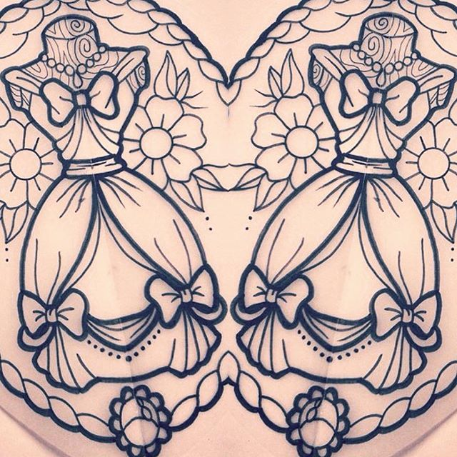 ✨Cinderella dress! email: amytenenbaumtattoos@gmail.com for bookings and enquiries disney tattoo ink fashion