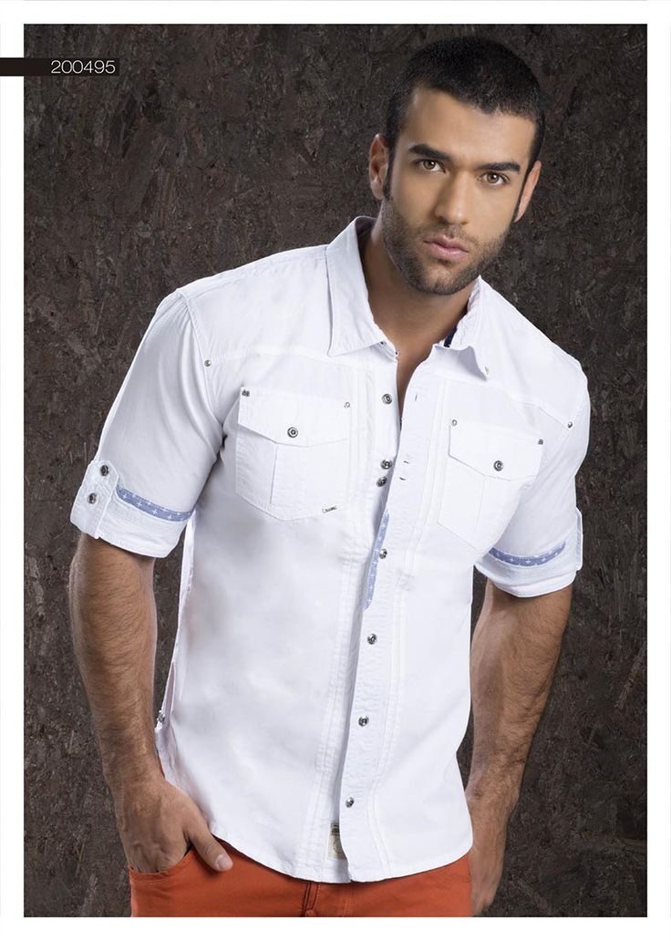 Camisa-para-hombre-color-blanco-manga-corta-white-shirt-for-men- short-sleeved Sexy, yet Casual Mens Fashion #sexy #men #mens #fashion #neutral #casual #male #males #guy #guys #hot #hotlooks #great #style #styles #hair #clothing #coolmensoutfits www.ushuaiajeans.com.co