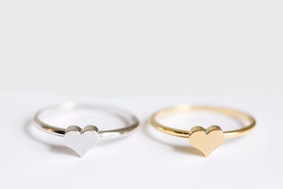 The classic heart ring offers simple elegance that is perfect for everyday use. You may choose from one of our versatile gold, silver, or rose gold colors. If you can't choose, no need to worry becaus