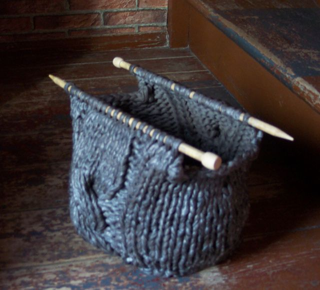 Ravelry: Project Gallery for Knitting Needle Knitting Bag pattern by Pam Allen