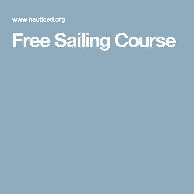 Free Sailing Course