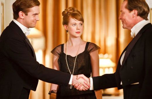 Mary's suitors meet Downton Abbey Season 2 Episode 2