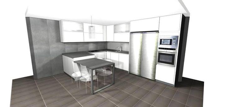 Da igual la forma, da igual el tamaño, lo realmente importante es que en el 3D que preparamos veas lo que realmente quieres   #mueblesdecocina #diseñodecocinas #cocinasmadrid #Infografias