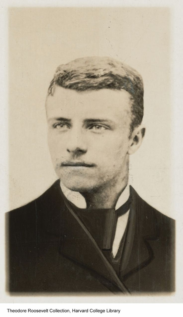 Future American President: Theodore Roosevelt (1858-1919). Photographed during his Sophomore year at Harvard, in May of c.1878. ~ {cwlyons} ~ (Original Image/collection: Houghton Library at Harvard University)