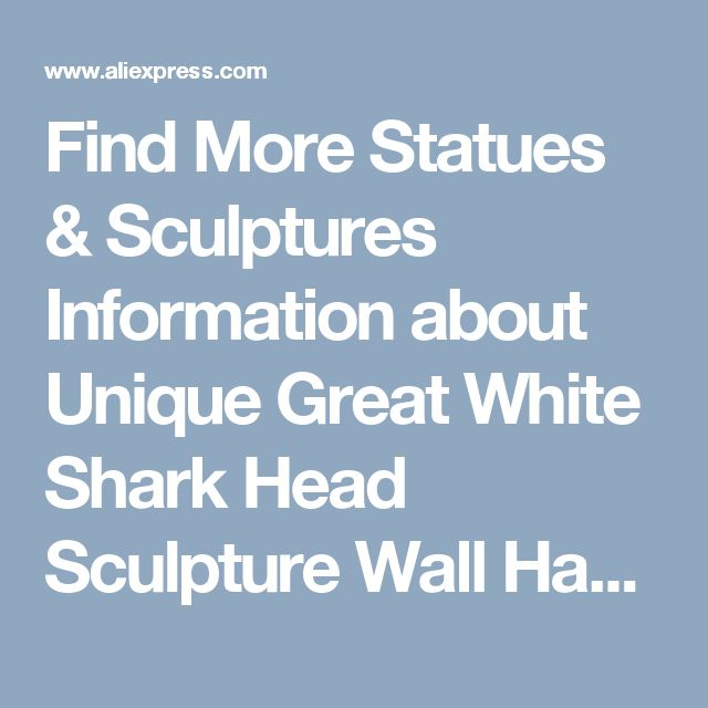 Find More Statues & Sculptures Information about Unique Great White Shark Head Sculpture Wall Hanging Resin 3D Jaws Statue Ocean Art and Craft Ornament For Home and Bar Decor,High Quality decorative decorative,China decor background Suppliers, Cheap decorative home decor from Wooden box / crafts Store on Aliexpress.com