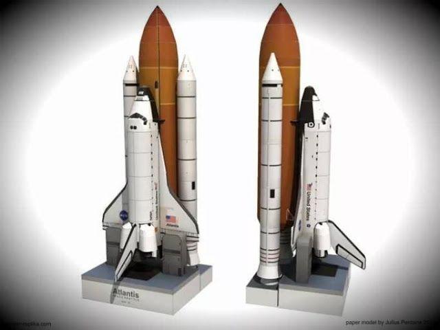 004 PAPERMAU Atlantis Space Shuttle Paper Model In 1/150