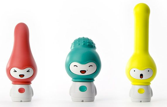 Buxxxer is a line of absurdly adorable vibrators designed by Madeindreams and made by Kokoro (NOT to be confused with KooKooRoo, an okay restaurant in my neighborhood that's currently being replaced by a Chipotle which I'm pretty excited about). There are three models to choose from, each more cute and strangely named than the last: Woody, Geena, and Clitt. Ookay,