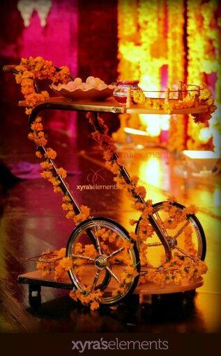 New Mahndi trend. Mahndi trolley. And its awesome...http://www.stylechum.com/mehndi-makeup/