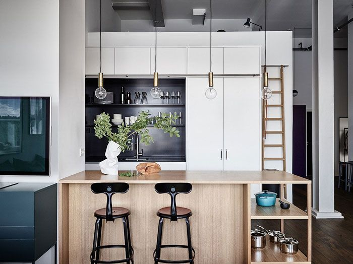An industrial setting with a playful palette.