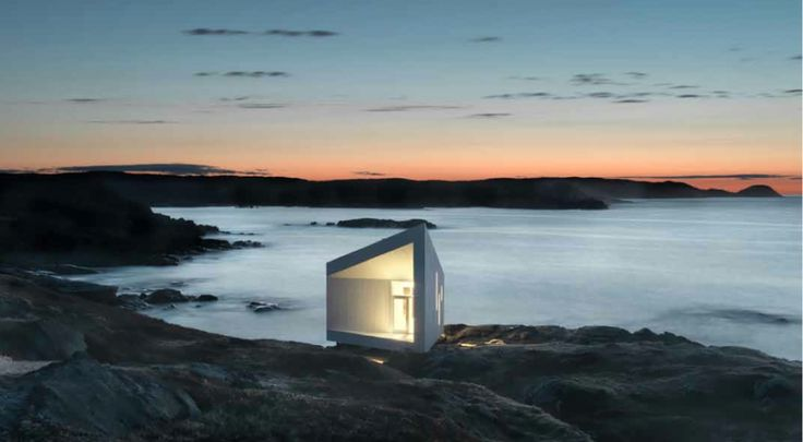 http://www.archipanic.com/the-fogo-island-project/  THE FOGO ISLAND PROJECT  Fogo Island floats twelve miles off the northeast coast of Newfoundland, Canada. The raw and poetic, wild and windswept landscape that guests a population of twenty-five hundred people is the setting for an exciting sociological and economic experiment in which the work of Saunders Architecture studio played a central role