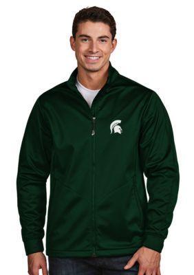 Antigua Dark Pine Michigan State Mens Golf Jacket