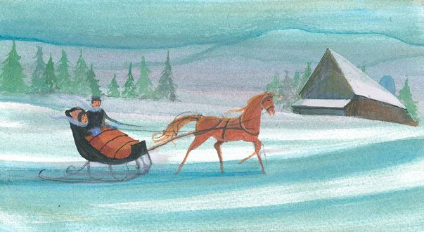 """Cozy Winter Ride"" 4x8"" #art #print #painting #pbuckleymoss #collectable #limitededdition #christmas #christmastime #christmastimeishere #xmas #christmasinjuly #santa #kriscringle #saintnichloas #stnicholas #stnick #stnicholas #holiday #merrychristmas #happyholidays #angel #christmastree #ornament #ornaments #garland #tinsel #garlands #christmasgift #winter #snow #sleigh #horsedrawnsleigh #horse #couple"