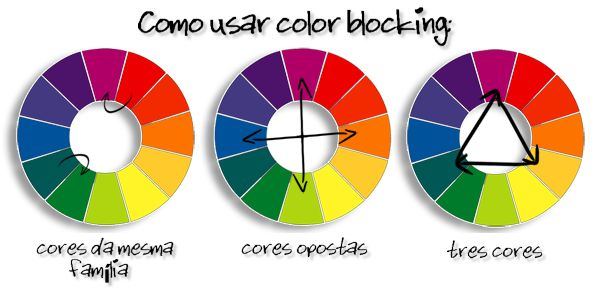 como usar o color bloking