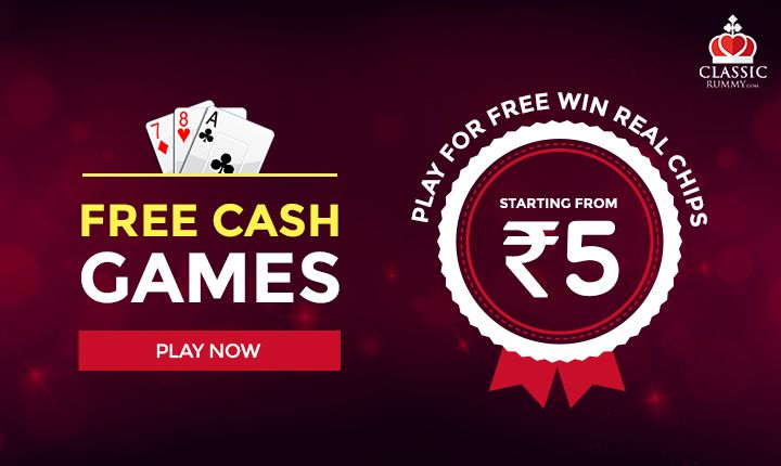 Free Cash Games Starting from Rs. 5. Play For Free Win Real Chips! Play Now!  https://www.classicrummy.com/play-free-rummy-online?link_name=CR-12  #rummy #freegames #freecashgames #rummyfree #Indianrummy #onlinerummy #realchips #cardgames #freerummy