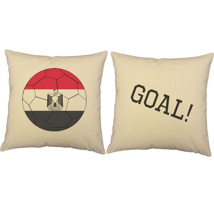 Egyptian Flag Soccer Ball Throw Pillows
