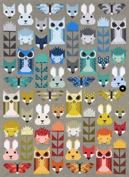 Fancy Forest - Cross Stitch Pattern. So retro!
