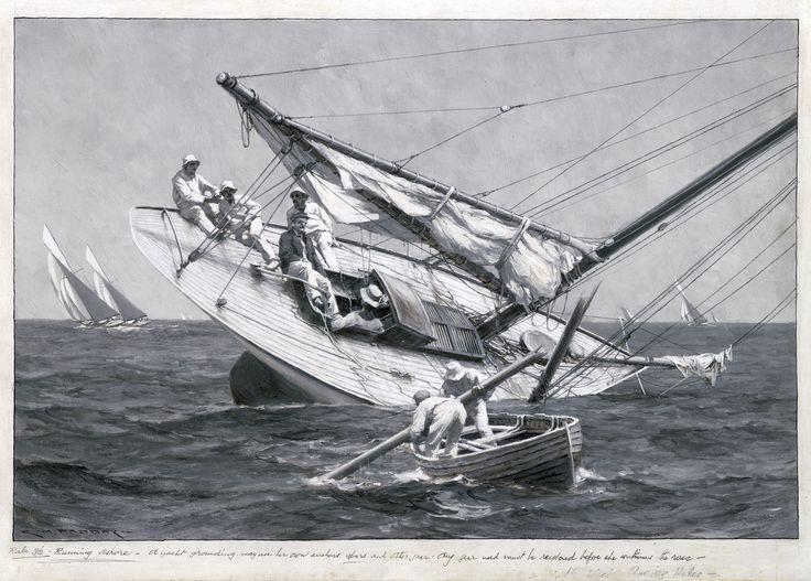A yacht ashore - National Maritime Museum