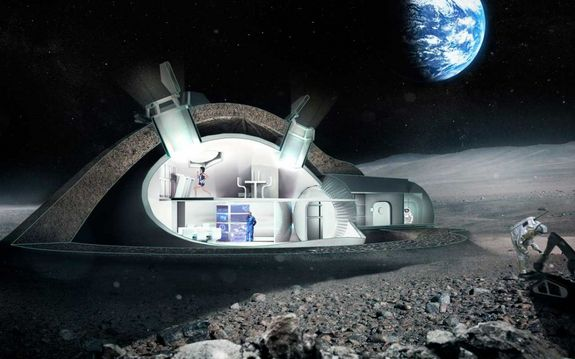 """Europe Aiming for International 'Moon Village'.   Inside look at one idea the European Space Agency is exploring in its formulation of a """"moon village"""" that incorporates 3D printing."""