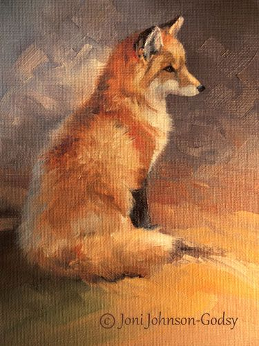 Red Fox - painting by Joni Johnson-Godsy