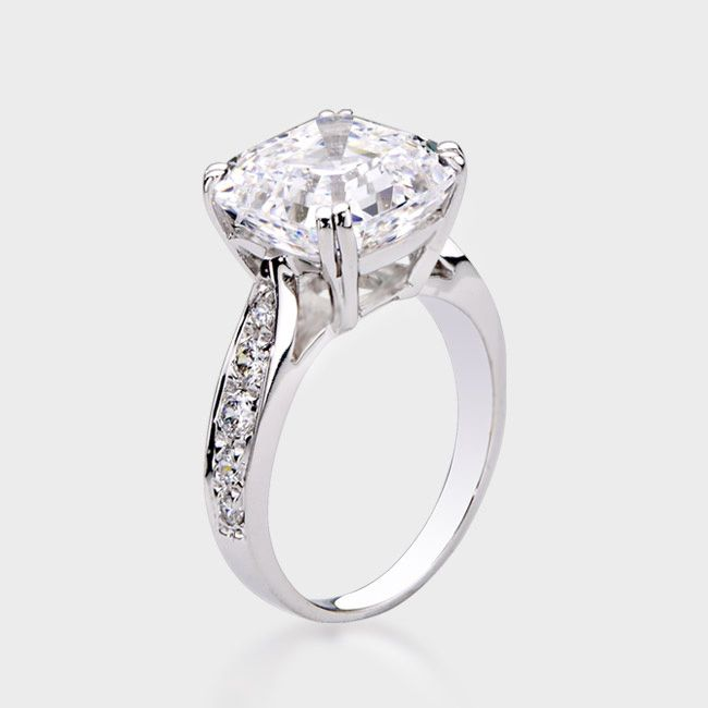 Charmant High Quality Cubic Zirconia Engagement Rings   Wedding And Bridal  Inspiration
