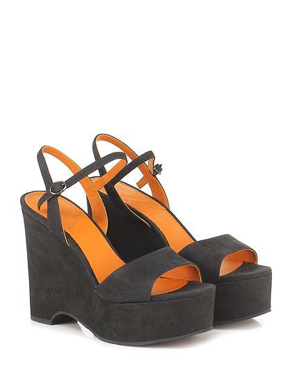 What for - Zeppe - Donna - Zeppa in nabuk con cinturino alla caviglia e suola in gomma. Tacco 130, platfotm 50 con battuta 80. - BLACK - € 169.00