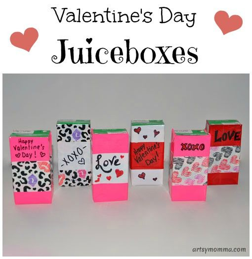 Valentine's Day Juiceboxes for Kids Party #DuckValentine